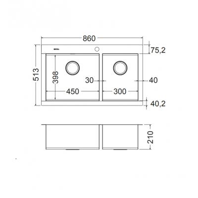 ΝΕΡΟΧΥΤΗΣ APELL Ανοξείδωτος Amalthea 86x51cm