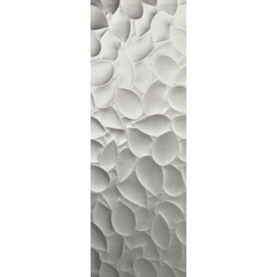 ΠΛΑΚΑΚΙ Genesis Leaf  Silver Matt 35x100cm