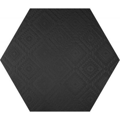 ΠΛΑΚΑΚΙ CLAY41 4100332 Esagona Navajo Black 22,5x19,5cm