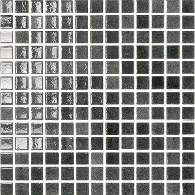 ΠΛΑΚΑΚΙ ΨΗΦΙΔΑ MOSAICO PASTA DI VETRO Loto NERO 2,5x2,5cm