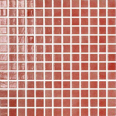 ΠΛΑΚΑΚΙ ΨΗΦΙΔΑ MOSAICO PASTA DI VETRO Loto ROSSO 2,5x2,5cm