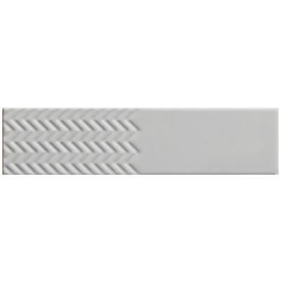 ΠΛΑΚΑΚΙ BISCUIT Waves Bianco 5x20cm