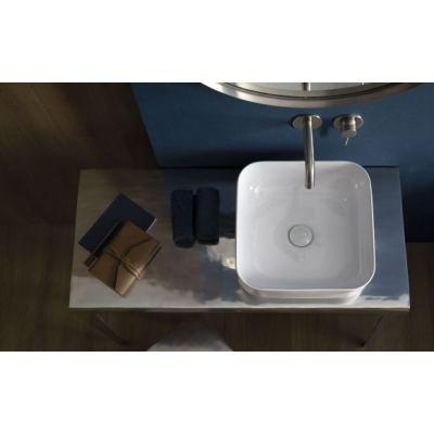 Νιπτήρας Επικαθήμενος BATHCO Dinan square 38,5x38,5x13,5cm