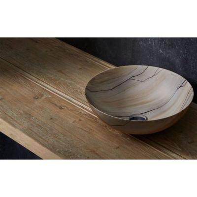 Νιπτήρας Επικαθήμενος BATHCO Wood 00399  40x15cm