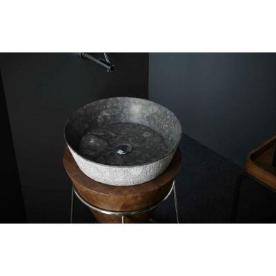 Νιπτήρας Επικαθήμενος BATHCO Madagascar Black (00384) 42x12cm