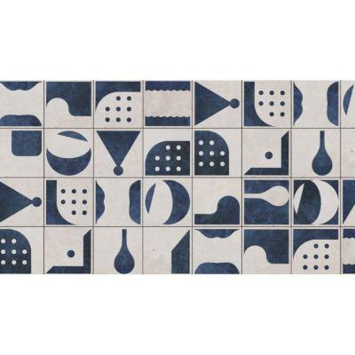 ΠΛΑΚΑΚΙ IN FALDA Design Italiano mix blu 20x20cm